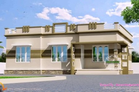 Single Floor House Design Flat Roof