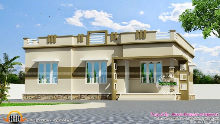 Inspiring Single Floor House Front View Designs Plans In Kerala 2018 Also Single Floor Home Front Design In Kerala Pic