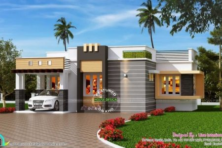 Single Floor House Front Design Kerala Style