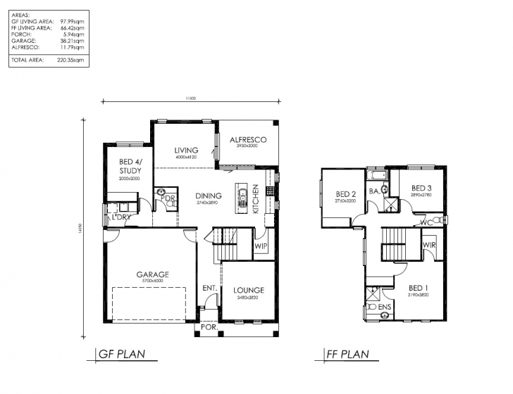 Interesting 2 Storey House Plans Australia Double Storey House Plans Australia Picture