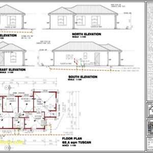 3 Bedrooms House Plan Design South Africa