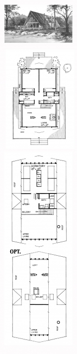 Interesting 51 Best A-Frame House Plans Images On Pinterest | Architecture A Frame House Plans 3 Bedroom Image