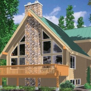 A Frame House Plans With Basement