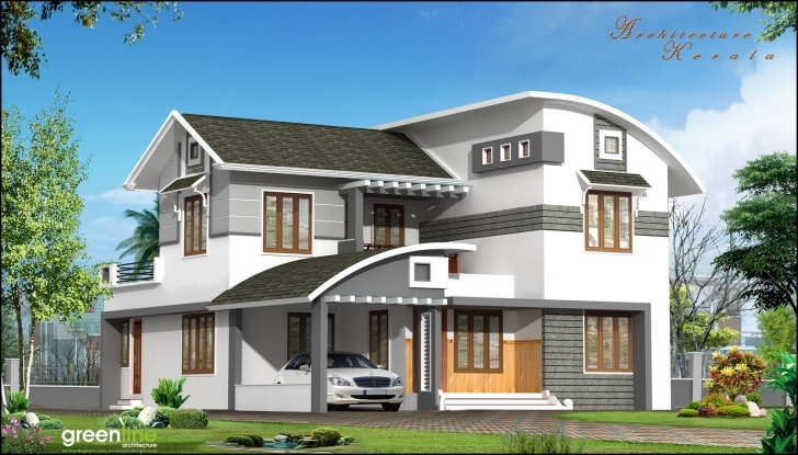 Interesting Architecture Kerala: A Beautiful House Elevation Kerala House Elevation Pictures Pic