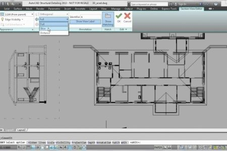 Residential Building Plan Section Elevation Dwg