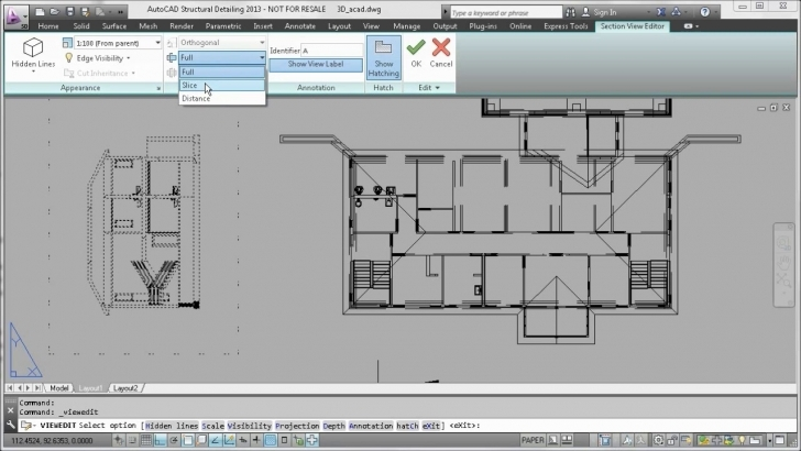 Interesting Autocad 2013 - Section, Elevation And Plan Views From 3D Model - Youtube Residential Building Plan Section Elevation Dwg Pic