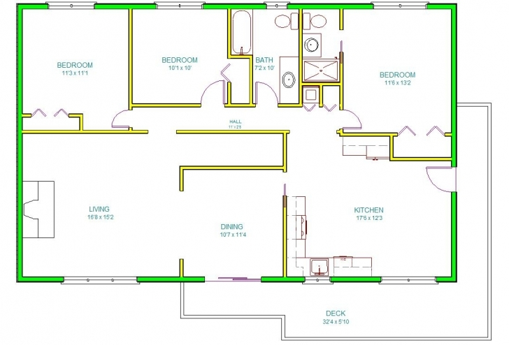 Interesting Autocad House Drawing At Getdrawings | Free For Personal Use 2D House Plan Photo