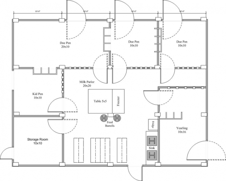 Interesting Barn And Pasture Plans - Dairy Goat Info Forum | Goats! | Pinterest Goat Housing Plans Pic