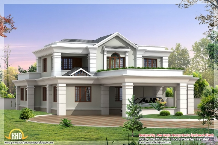 Interesting Beautiful Indian House Elevations Kerala Home Design Floor - Billion Beautiful Indian House Pic Picture