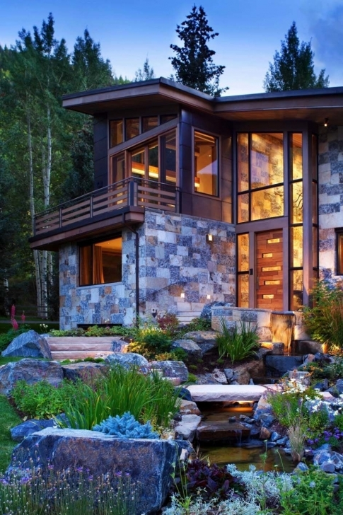 Interesting Captivating Modern-Rustic Home In The Colorado Mountains | Colorado Modern Rustic Mountain Home Pic