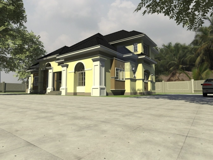 Interesting Contemporary Nigerian Residential Architecture 3 Bedroom Bungalow With Pent House In Nigeria Photo