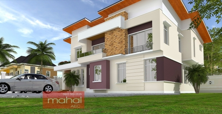 Interesting Contemporary Nigerian Residential Architecture 4 Bedroom Duplex House Plans In Nigeria Pic