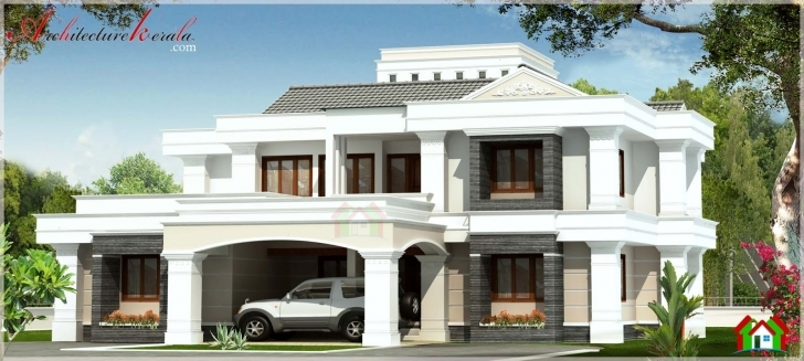 Interesting Contemporary Style Kerala House Elevation - Architecture Kerala Kerala House Elevation Pictures Photo