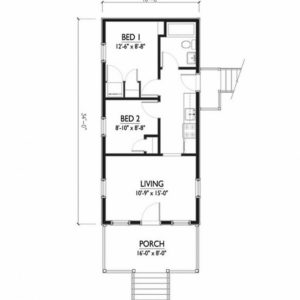 16 X 50 House Plans India