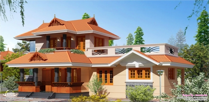 Interesting Eco Friendly Houses: 1950 Square Feet Kerala Model Home Eco Friendly House Model Kerala Photo