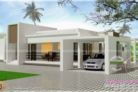 Modern House Front Elevation Designs For Single Floor
