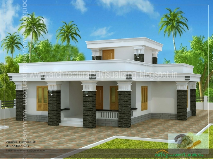 Interesting Feet Bedroom Kerala Single Floor House Design Budget Plans Kerala House Plans Low Cost Plan Photos Pic