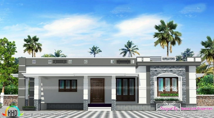 Interesting Flat Roof Single Floor Home Kerala Design - House Plans | #87907 Single Floor House Design Flat Roof Photo