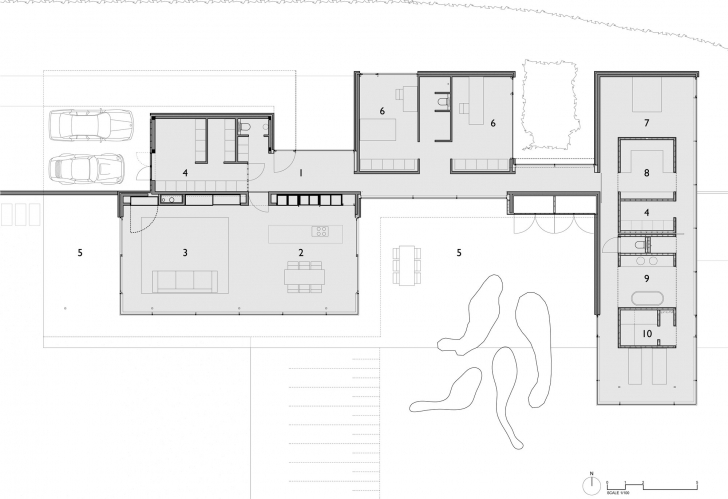 Interesting Floor Plan Modern Single Story Open House Faes Design Ideas Modern Single Story House Floor Plans Picture
