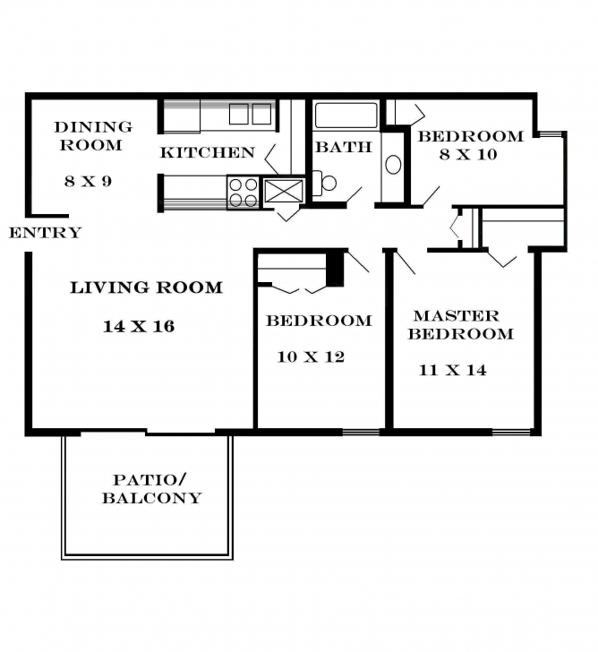 Interesting Floor Plans For Small Houses Trends Including Fabulous Simple Three Simple Three Bedroom House Plan Pic