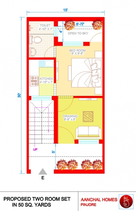 Interesting Home Design 50 Gaj - Homeriview 50 Gaj Plot Ka Naksha 15 By 30 Pic