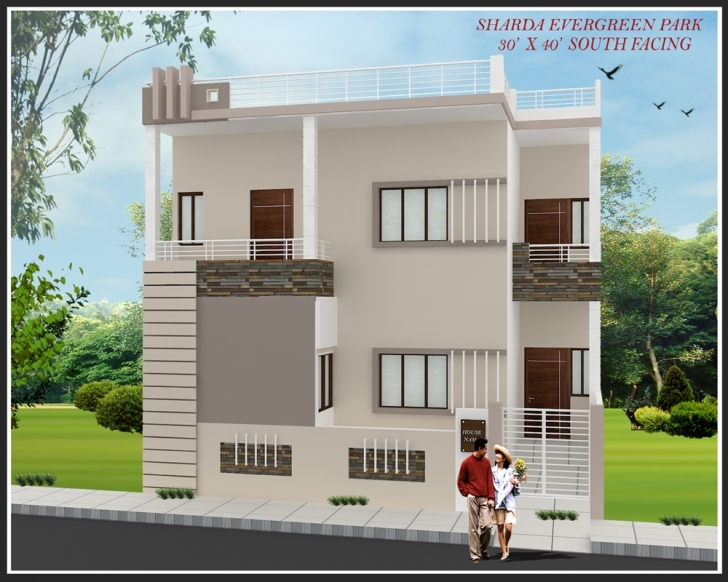 Interesting Home Design Site - Talentneeds - Front Elevation Of Indian House 30X50 Site South Facing Picture