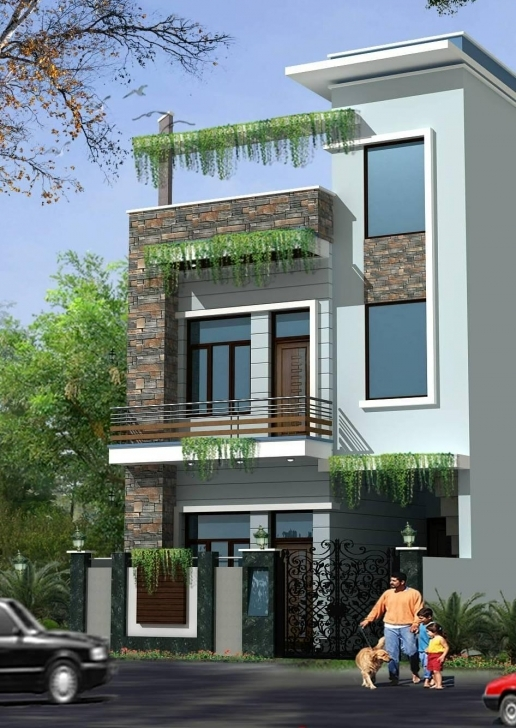 Interesting House Model Front Side | The Base Wallpaper Front Elevation House 20 Ft Picture