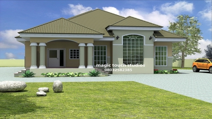 Interesting House Plans Nigeria Well-Suited Ideas 13 5 Bedroom Bungalow - Tiny House Nigeria House Plans For Sale Photo
