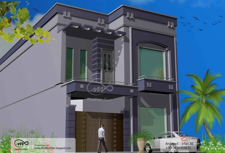 Interesting Indian Home Design | 5 Marla Front Elevation 3 Marla House Front Design Photo