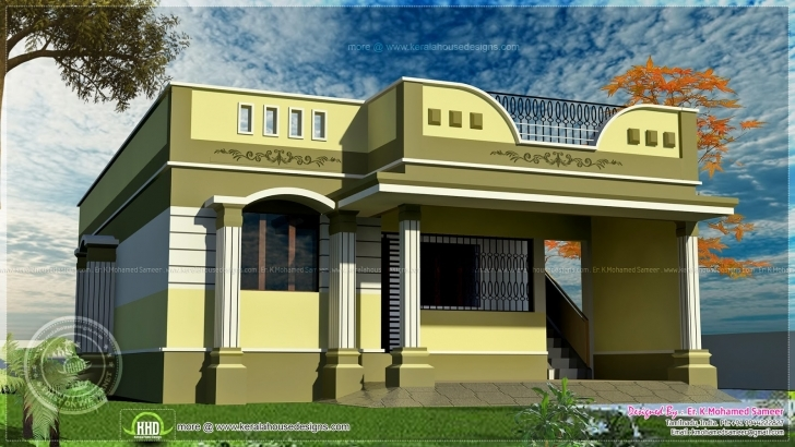 Interesting Indian Home Portico Design - Mellydia - Mellydia Single Floor Home Front Design Indian Style Image