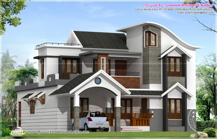 Interesting Modern House Architecture Kerala Home Design Floor - Dma Homes | #371 Modern House In Kerala Image