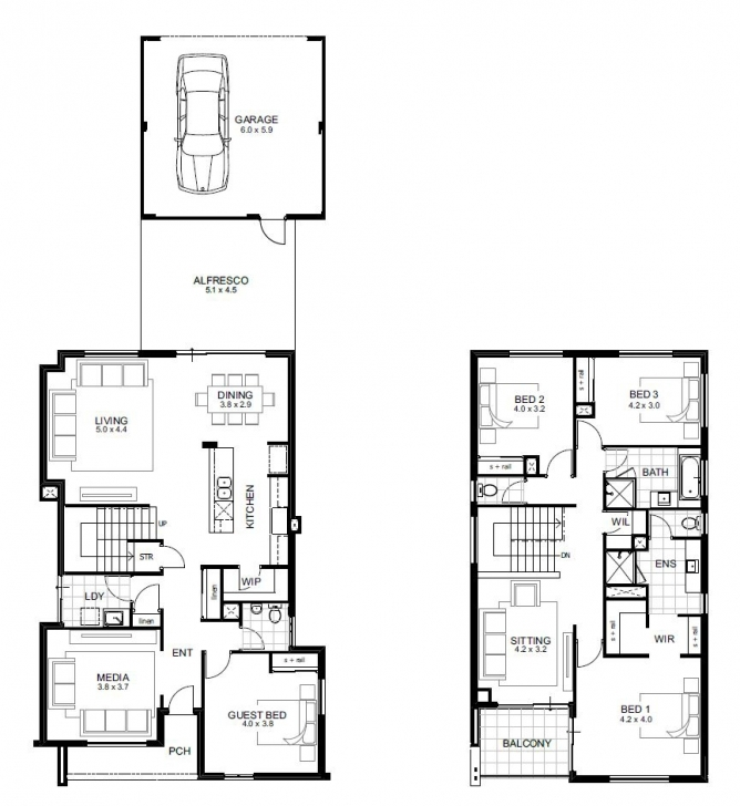 Interesting Narrow Lot Double Storey House Designs Perth | Apg Homes Double Storey House Plans For Narrow Blocks Pic