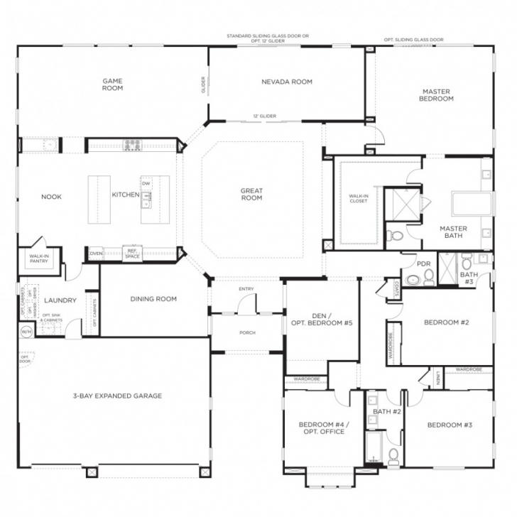 Interesting Nice Home Designs Single Story Floor Plans One Story House Plans In Single Story House Floor Plan Picture