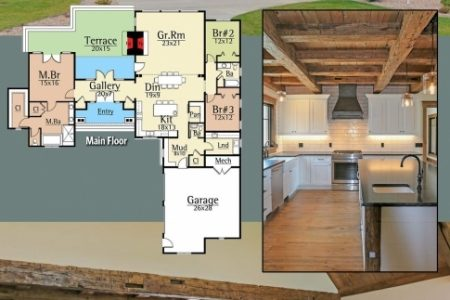 Rustic Mountain Home Floor Plans