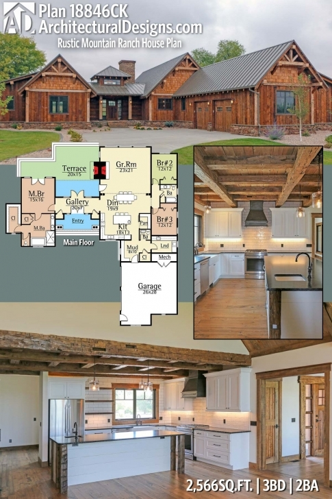 Interesting Plan 18846Ck: Rustic Mountain Ranch House Plan | Mountain House Rustic Mountain Home Floor Plans Image