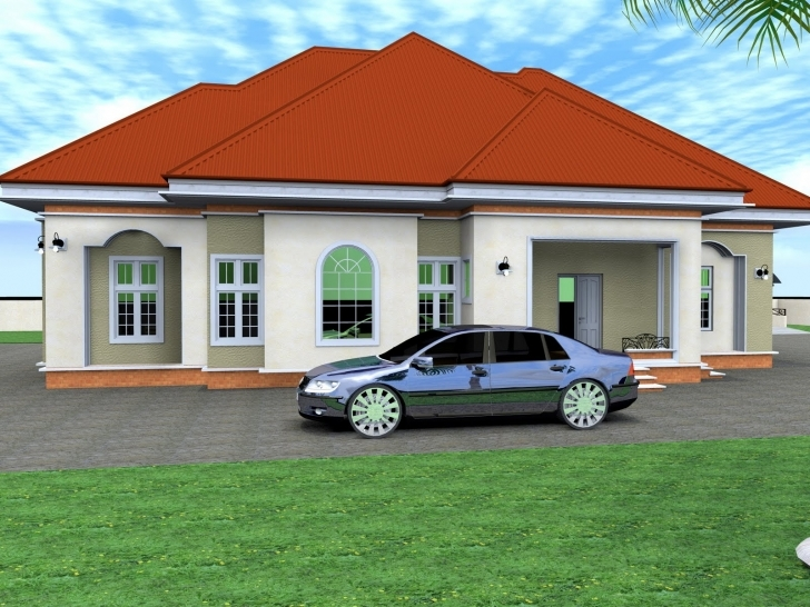 Interesting Residential Homes Public Designs Bedroom Bungalow - Building Plans Four Bedroom Bungalow Design Photo