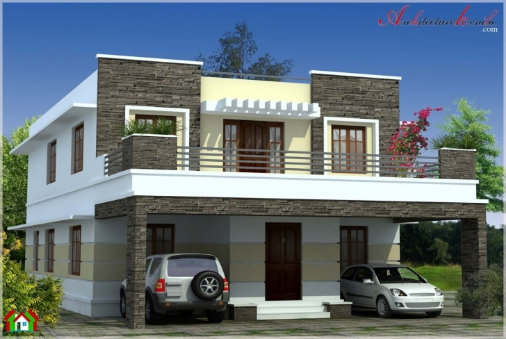 Interesting Simple Contemporary Style Kerala House Elevation | Beautiful Homes Kerala House Elevation Picture