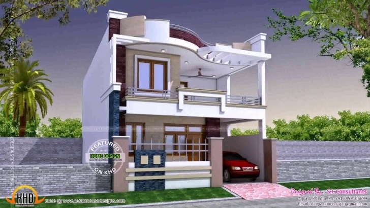 Interesting Simple Indian House Front Design - Youtube House Front Design Image