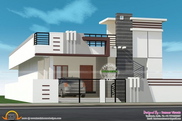 Interesting Small House With Car Parking Construction Elevation - Google Search House Front Elevation Designs For Single Floor West Facing Photo