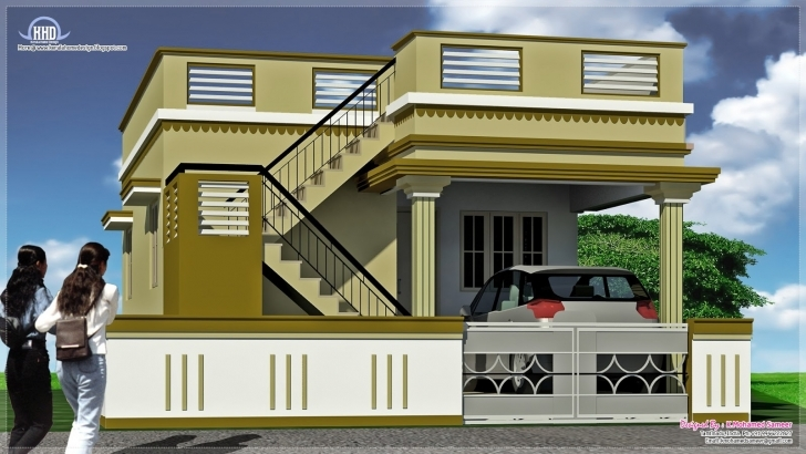 Interesting Small Indian House Front Elevation Photos | The Best Wallpaper Of South Indian House Front Elevation Designs For Single Floor Picture