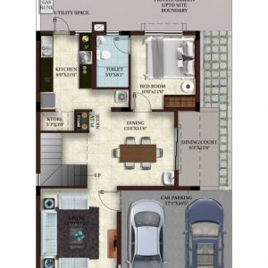 1000 Sq Ft House Plans With Car Parking