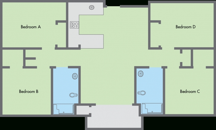 Interesting Terrific Four Bedroom Flat Building Plan Contemporary - Exterior Floor Plan Of Four Bedroom Flat Picture