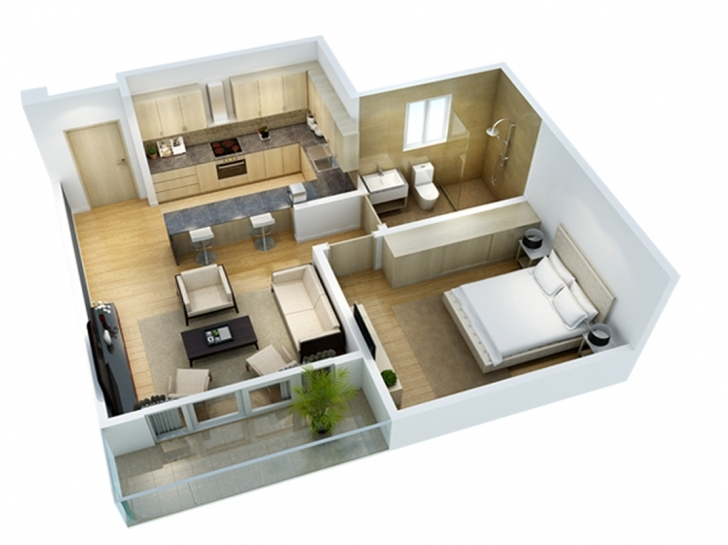 Interesting The Alma Simple House Plan With 6 Bedrooms 3D Image