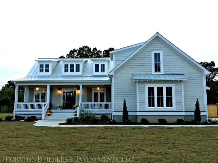 Interesting Thornton-Builders | The Modern Farmhouse | For The Land Thornton Builders Modern Farmhouse Plan Photo