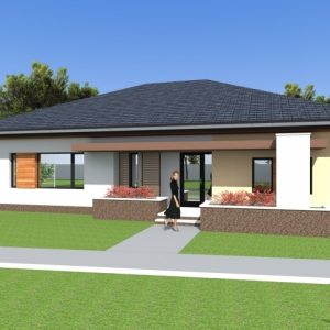 Three Bedroom Bungalow House Plan