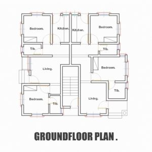 Three Bed Room Floor Plan In Nigeria