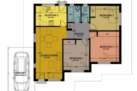 3 Bed Room Floor House Plans In Jwaneng