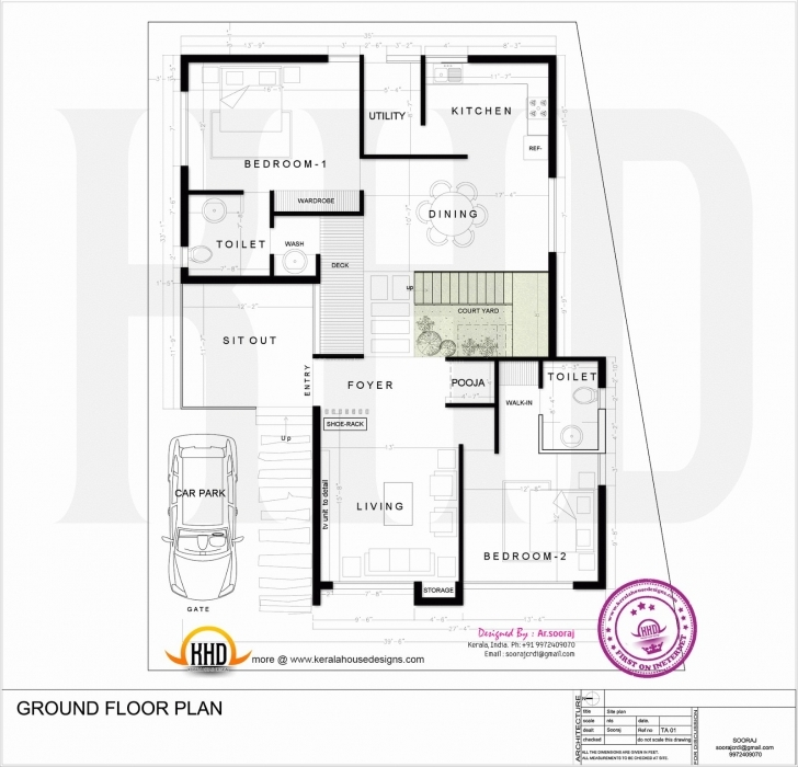 Latest 1400 Square Ft House Plans New 1400 Sq Ft House Plan With Car 900 Sq Ft House Plans With Car Parking India Pic