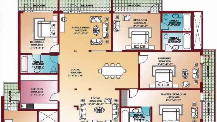 Latest 4 Bedroom Floor Plans - Home Design, Decorating And Improvement Four Bedroom Flat Plan Image