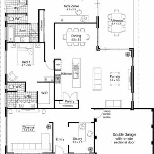 2D Plan Of Modern Houses